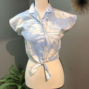 Hilo Hattie crop tie top